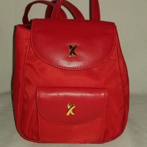 Paloma Picasso  Mini Red Nylon /Leather Backpack